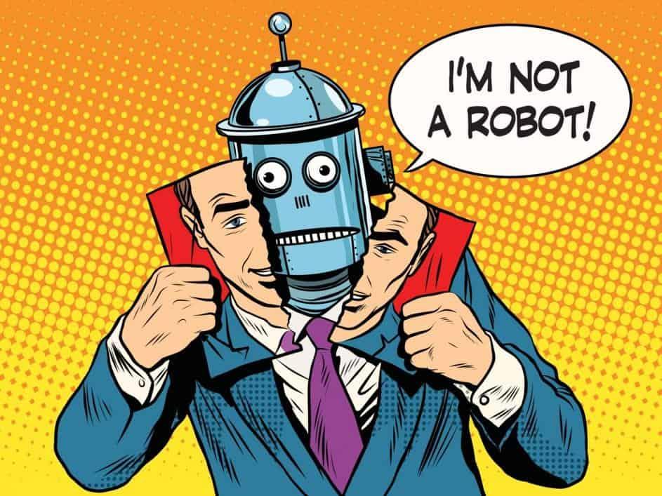 A robot pretending to be a human
