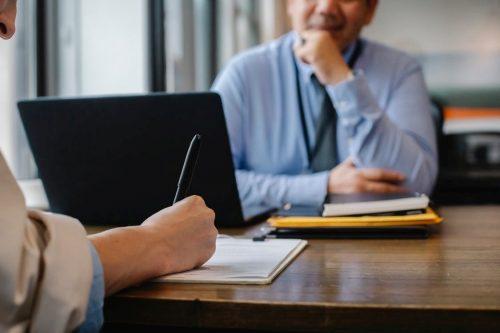 Recruitment through a staffing agency